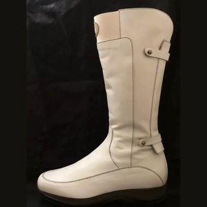 Cesare Paciotti 4Us Edition White Leather Boots